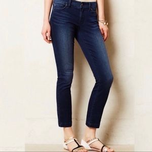 Level 99 Anthropologie Lily Crop Jeans
